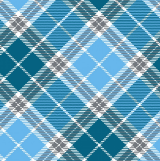 Plaid in cyan