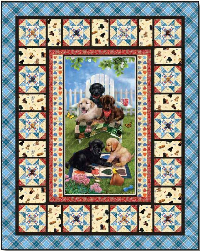 Pups in the Garden Quilt