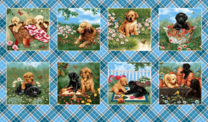 Pups in the Garden Continuous Blocks